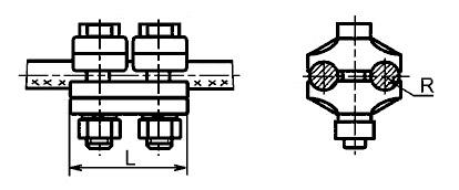 Зажим плашечный ПА-1-1 для алюминиевых проводов