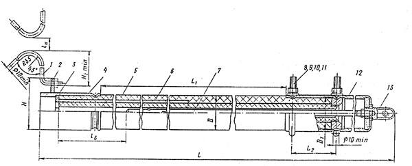 Трубчатый разрядник РТФ-10-0